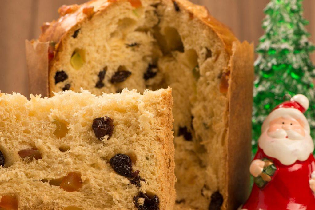 Panettone navideño dulce