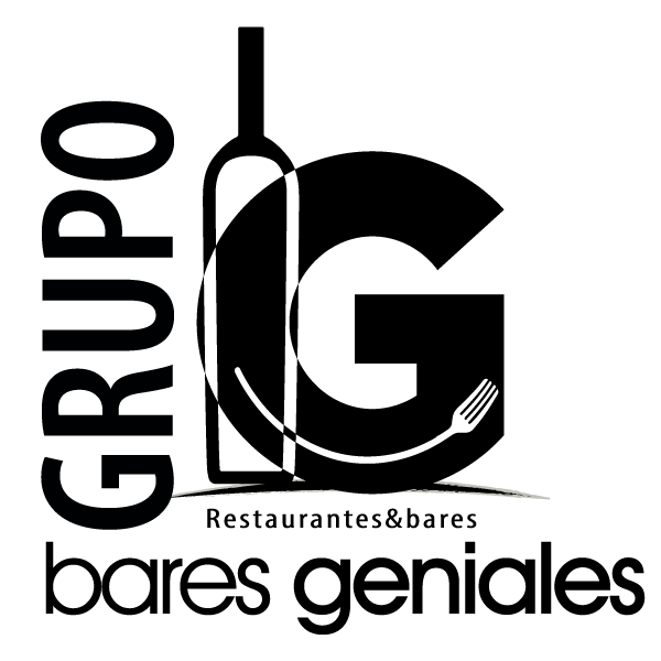 Imagen del logo de bares geniales en negro
