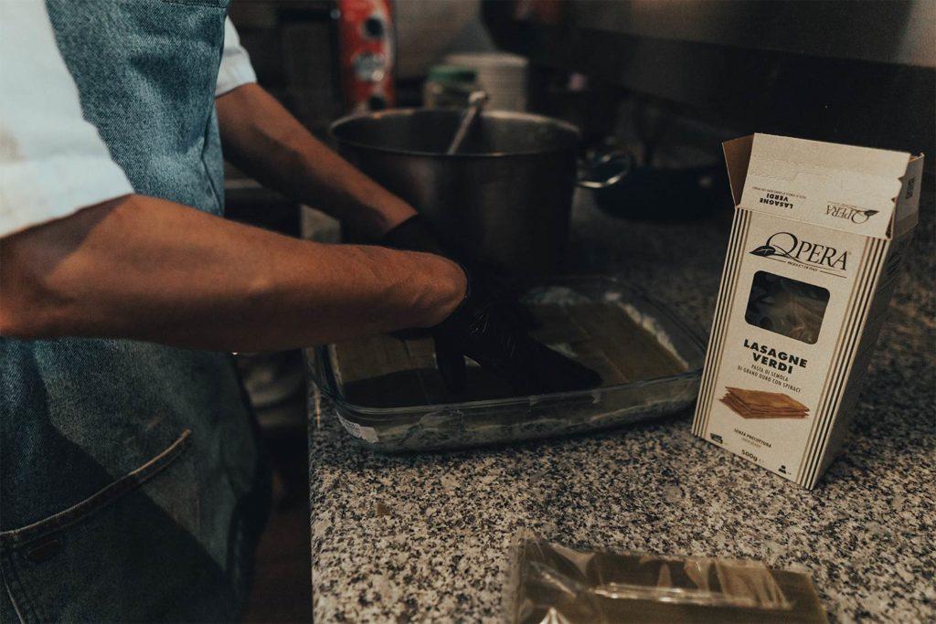 Piccola Stanza: receta de lasaña de espinacas